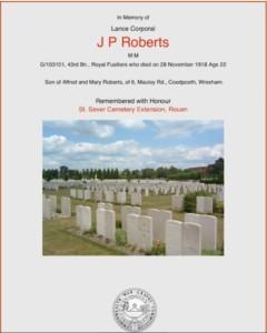 John Pryce Roberts Cert Img