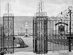 Old photo of Memorial Gates 2