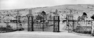Old photo of Memorial Gates